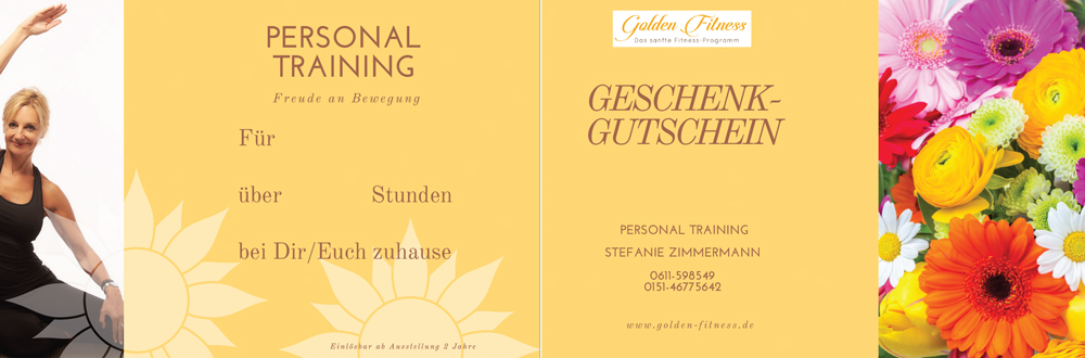 gutschein Golden Fitness